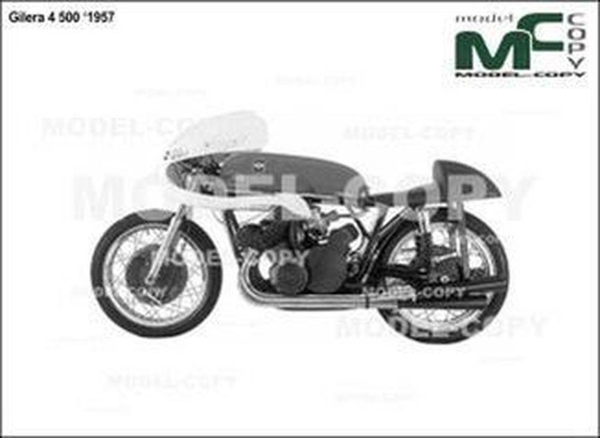Gilera 4 500 '1957 - 2D drawing (blueprints)
