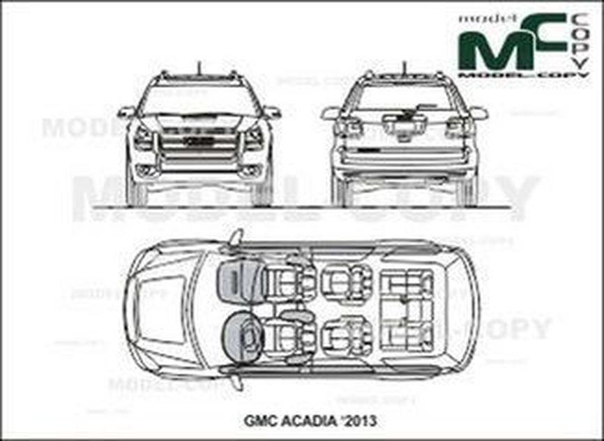 GMC ACADIA '2013 - drawing