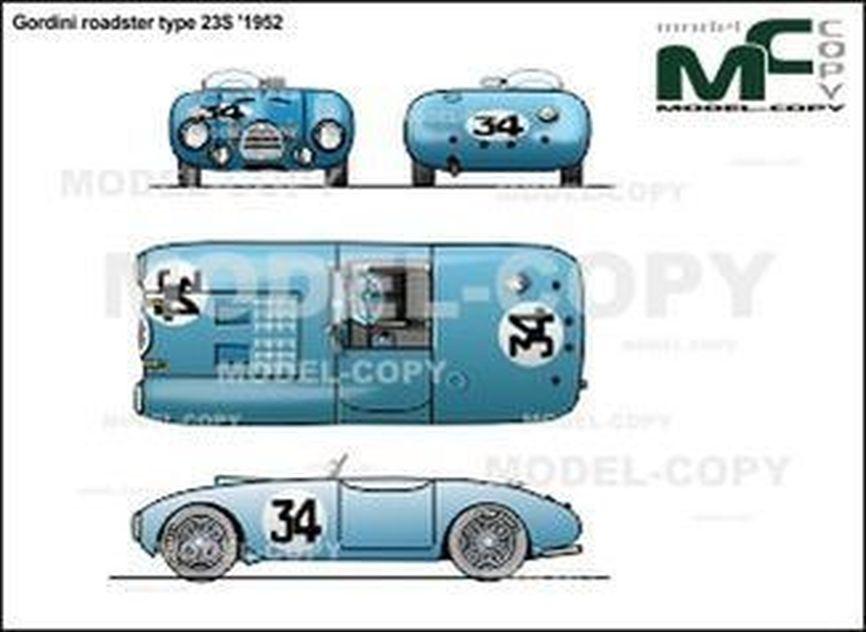 Gordini roadster type 23S '1952 - 2D drawing (blueprints)