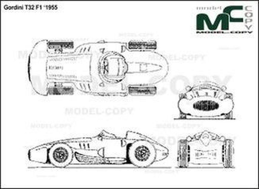 Gordini T32 F1 '1955 - 2D drawing (blueprints)