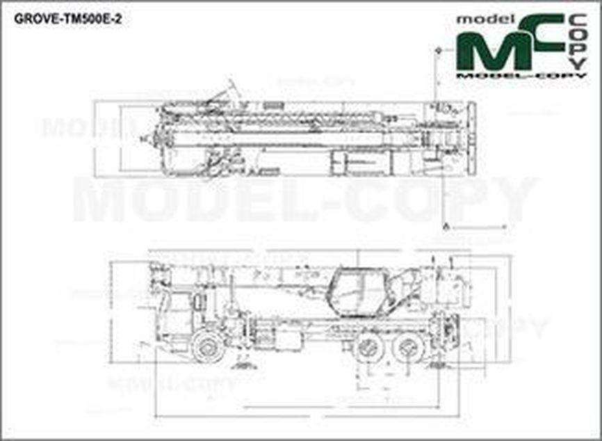 GROVE-TM500E-2 - 2D drawing (blueprints)