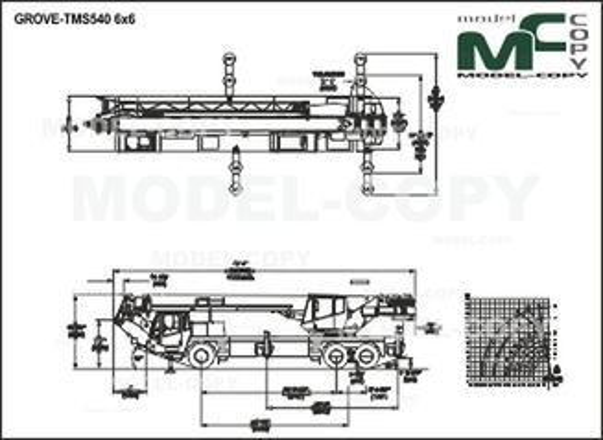 GROVE-TMS540 6x6 - 2D drawing (blueprints)