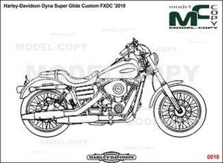 Harley-Davidson Dyna Super Glide Custom FXDC '2010 - bản vẽ