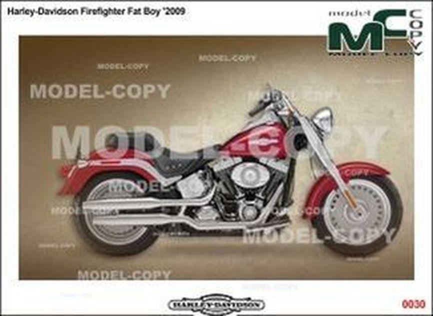 Harley-Davidson Firefighter Fat Boy '2009 - drawing