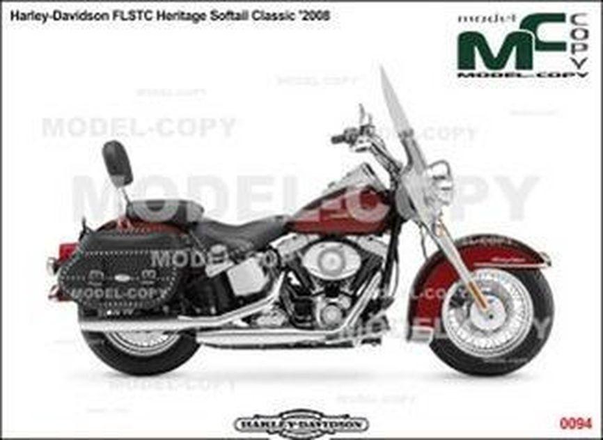 Harley-Davidson FLSTC Heritage Softail Classic '2008 - 2D drawing (blueprints)