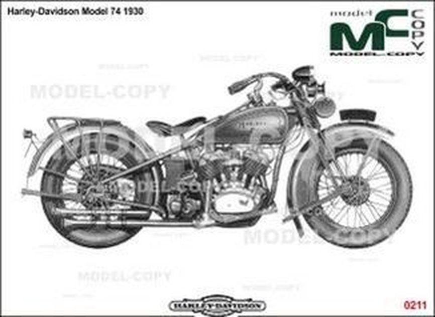 Harley-Davidson Model74 1930 - 2D drawing (blueprints)