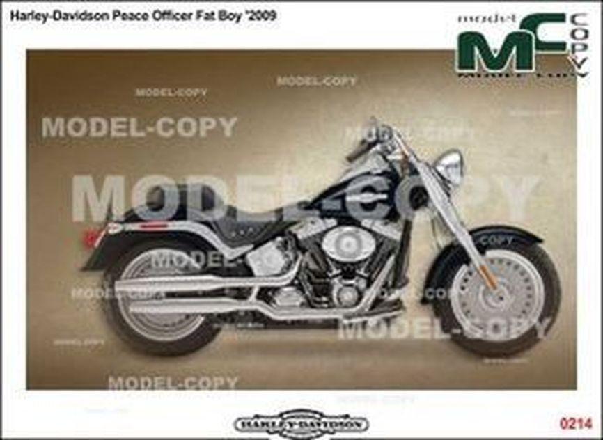 Harley-Davidson Peace Officer Fat Boy '2009 - 2D drawing (blueprints)