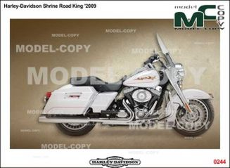 Harley-Davidson Shrine Road King '2009 - Dessin 2D