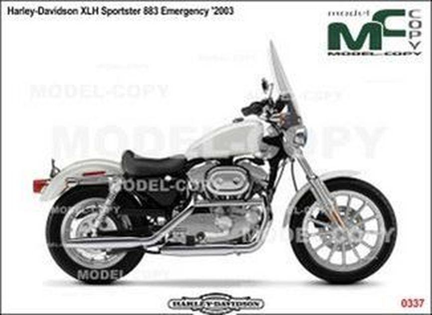 Harley-Davidson XLH Sportster 883 Emergency '2003 - 2D図面