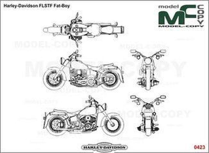 harley-davidson flstf fat-boy - rysunek - 26316