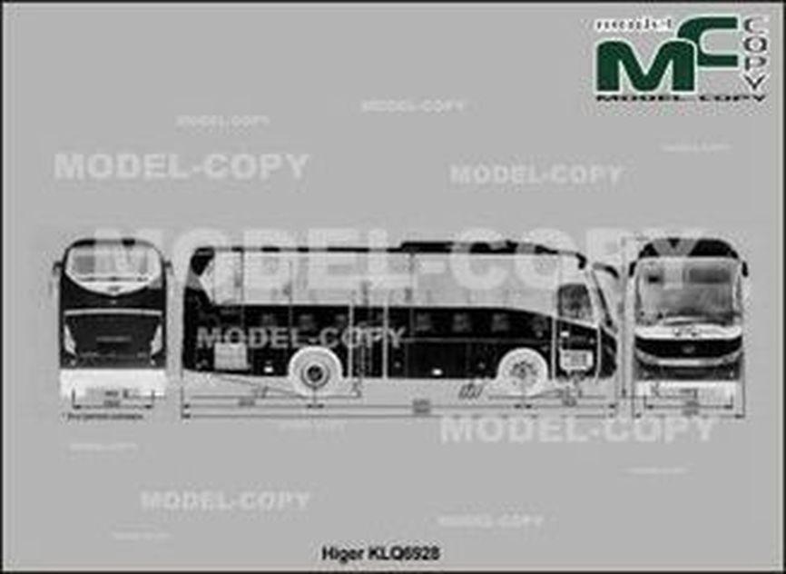 Higer KLQ6928 - 2D drawing (blueprints)