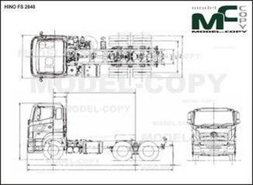 HINO FS 2848 - drawing