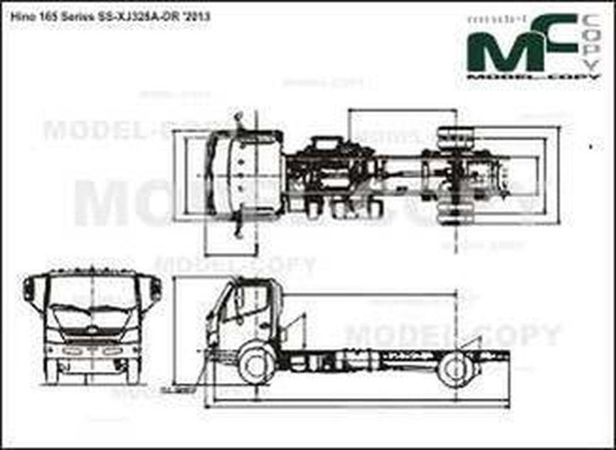 Hino 165 Series SS-XJ328A-DR '2013 - drawing
