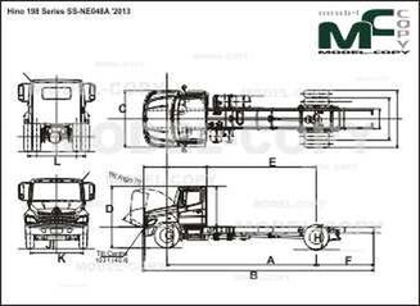 Hino 198 Series SS-NE048A '2013 - drawing
