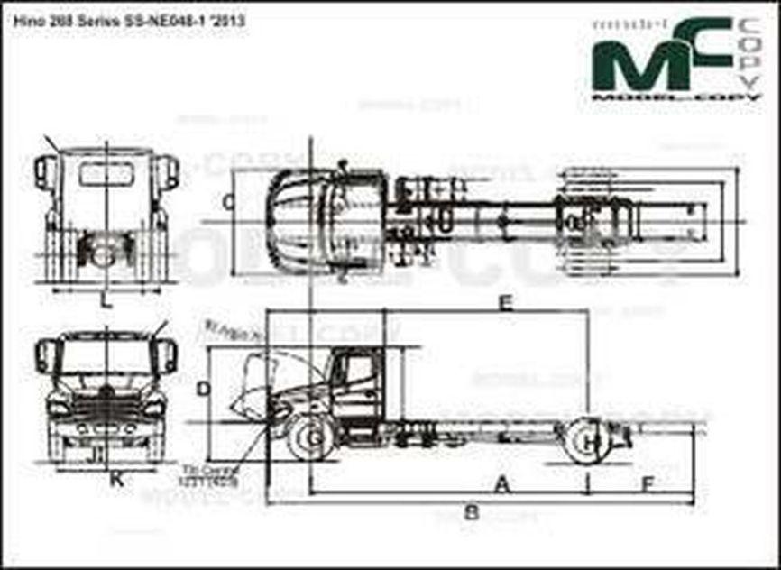 Hino 268 Series SS-NE048-1 '2013 - drawing