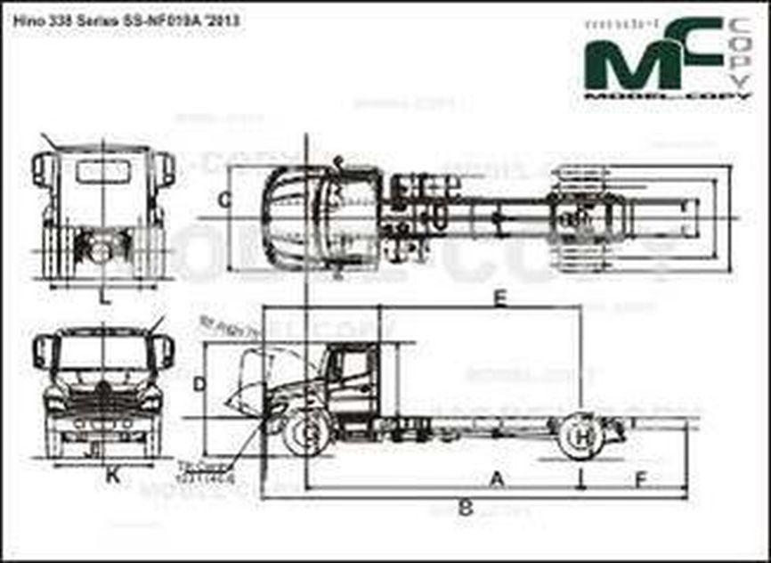 Hino 338 Series SS-NF019A '2013 - drawing
