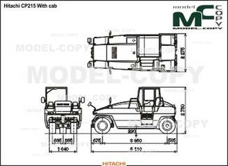 Hitachi CP215 With cab - drawing