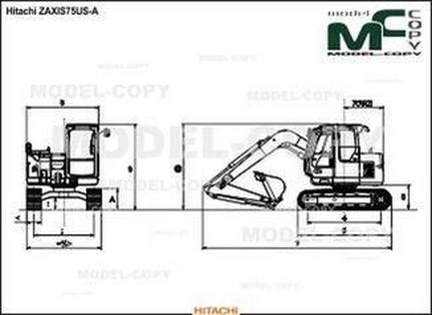 Hitachi ZAXIS75US-A - drawing