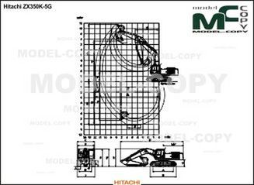 Hitachi ZX350K-5G - 2D drawing (blueprints)