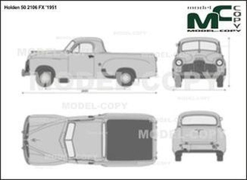 Holden 50 2106 FX '1951 - 2D drawing (blueprints)