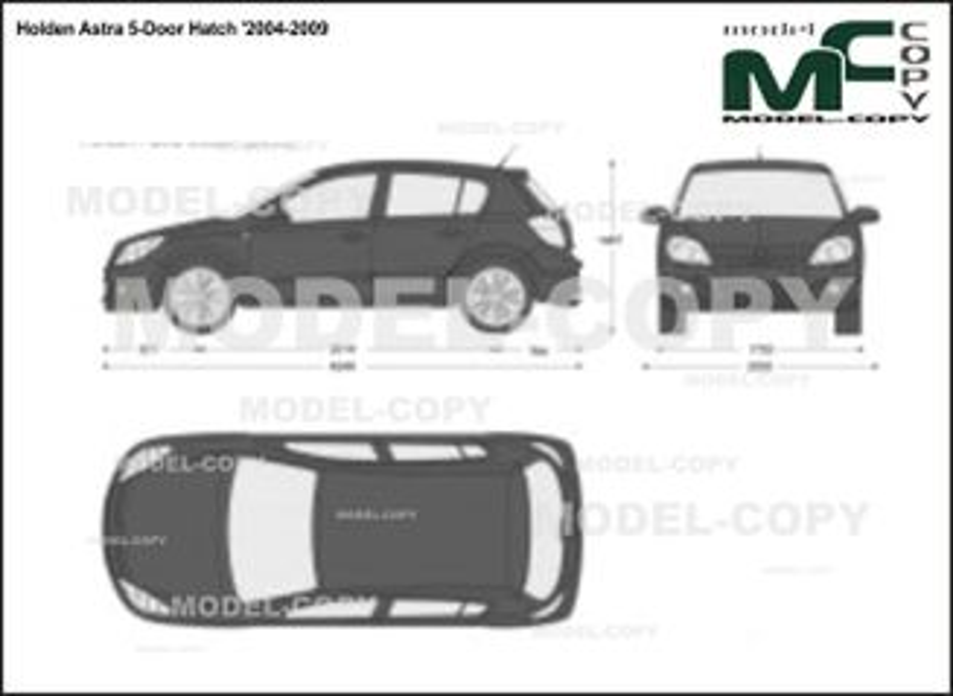 Holden Astra 5-Door Hatch '2004-2009 - 2D-чертеж