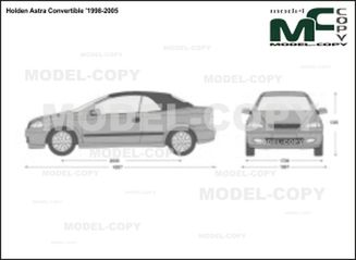 Holden Astra Convertible '1998-2005 - 2D drawing (blueprints)