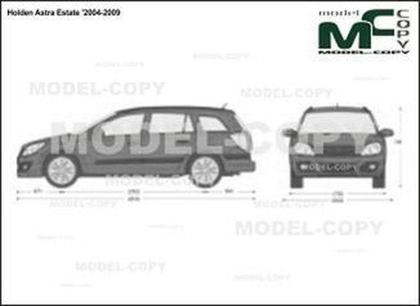 Holden Astra Estate '2004-2009 - 2D drawing (blueprints)