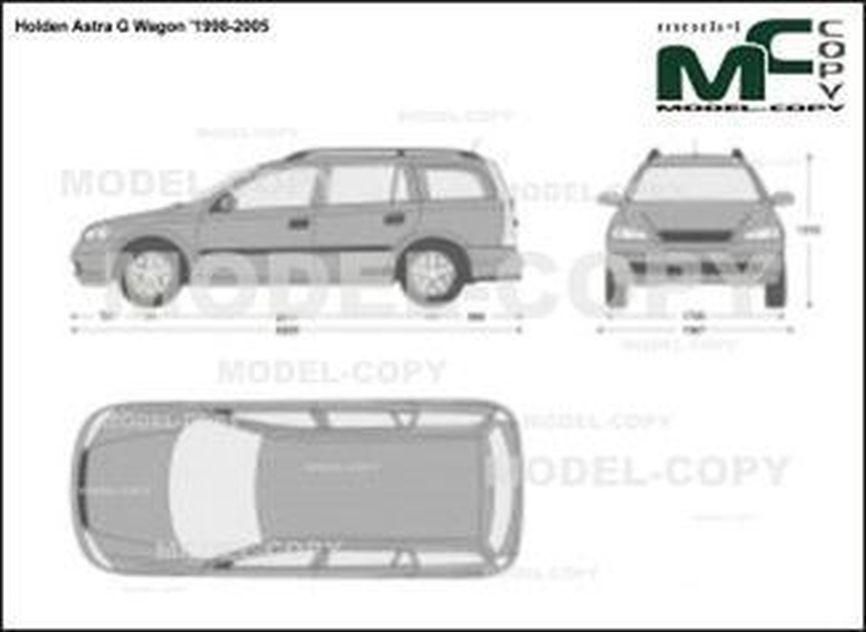 Holden Astra G Wagon '1998-2005 - 2D-чертеж