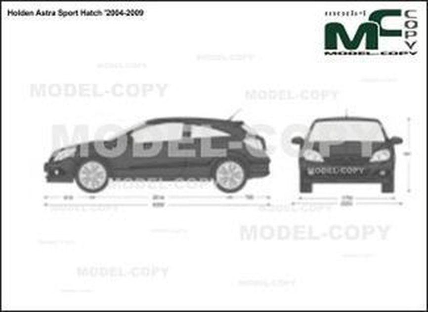Holden Astra Sport Hatch '2004-2009 - 2D図面
