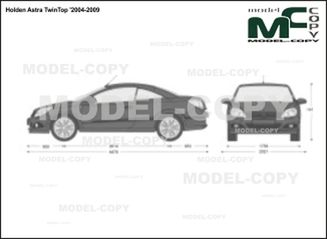 Holden Astra TwinTop '2004-2009 - 2D drawing (blueprints)