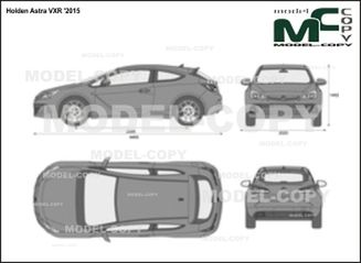 Holden Astra VXR '2015 - 2D drawing (blueprints)