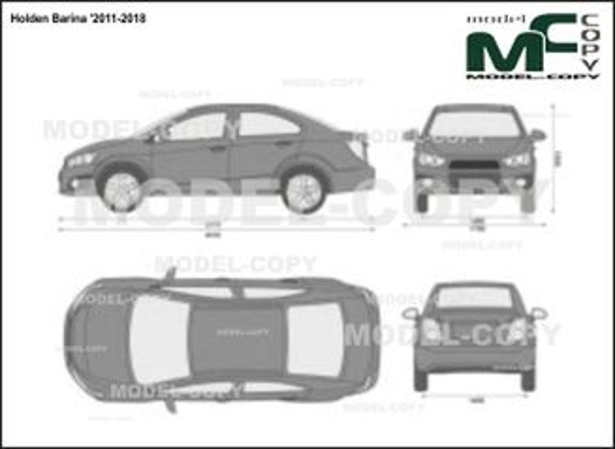 Holden Barina '2011-2018 - 2D-чертеж