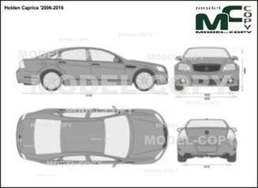 Holden Caprice '2006-2016 - 2D drawing (blueprints)