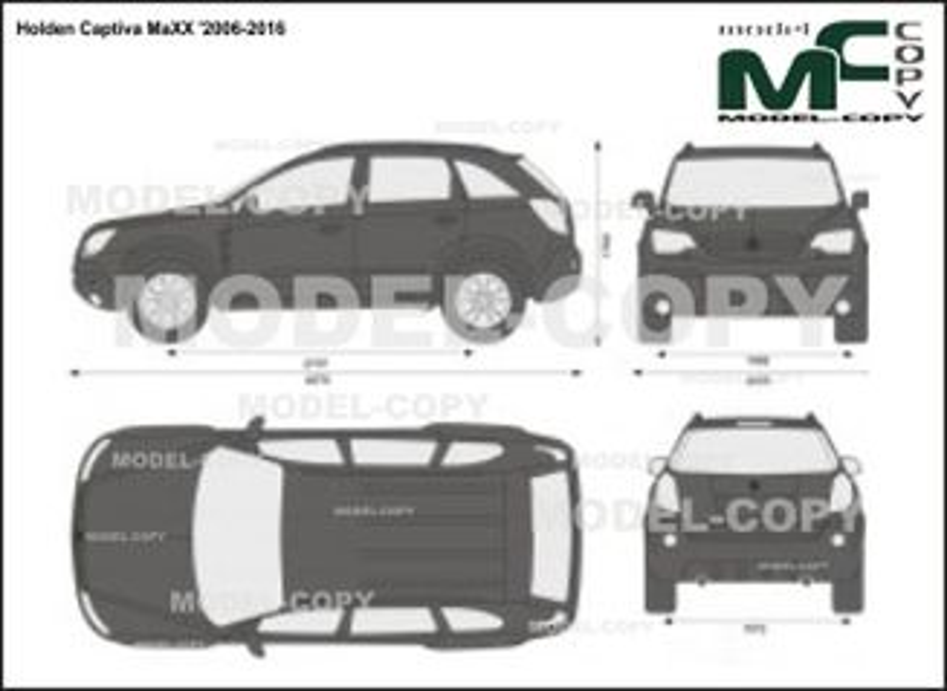 Holden Captiva MaXX '2006-2016 - 2D drawing (blueprints)