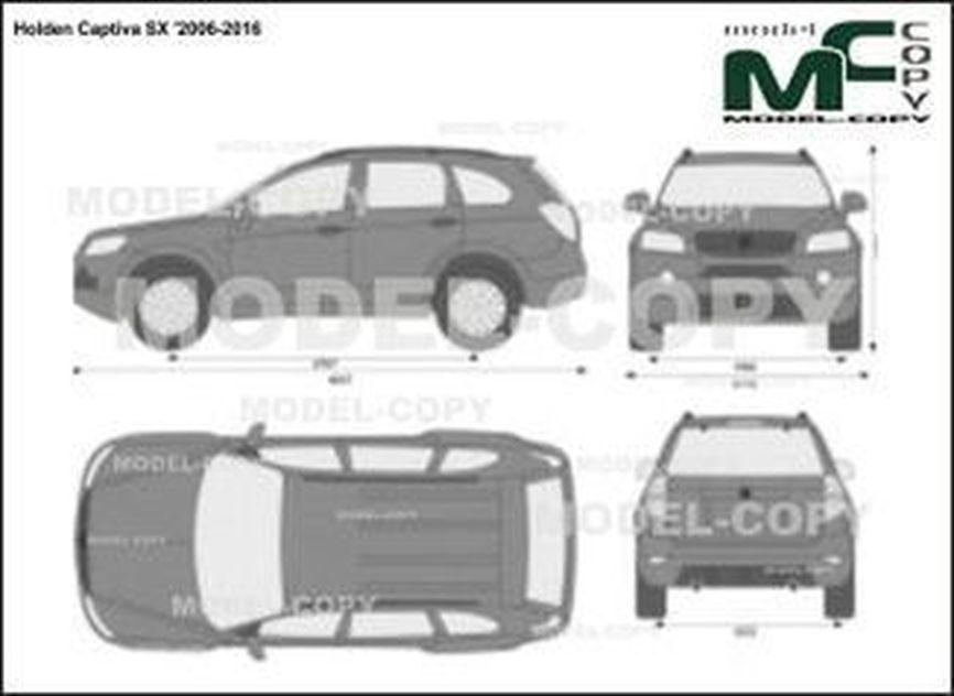 Holden Captiva SX '2006-2016 - 2D図面