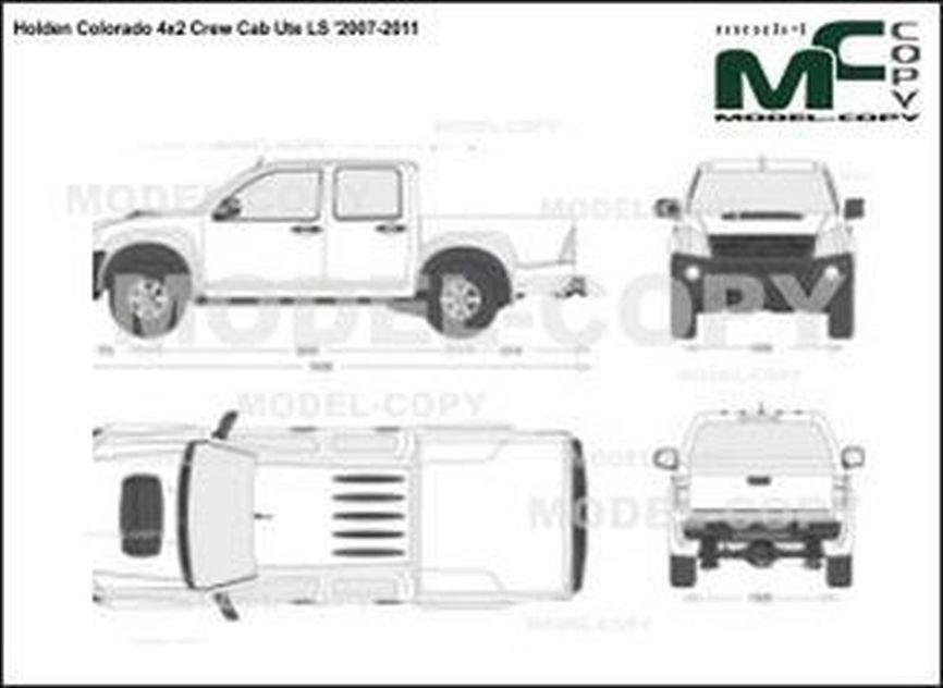 Holden Colorado 4x2 Crew Cab Ute LS '2007-2011 - 2D図面