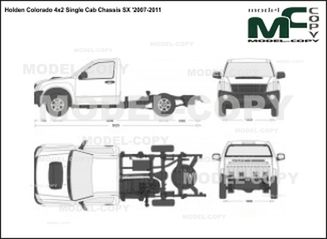 Holden Colorado 4x2 Single Cab Chassis SX '2007-2011 - 2D drawing (blueprints)