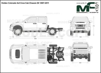 Holden Colorado 4x4 Crew Cab Chassis SX '2007-2011 - 2D drawing (blueprints)