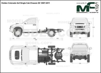Holden Colorado 4x4 Single Cab Chassis SX '2007-2011 - 2D drawing (blueprints)