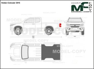 Holden Colorado '2016 - 2D drawing (blueprints)