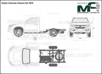 Holden Colorado Chassis Cab '2016 - 2D-чертеж