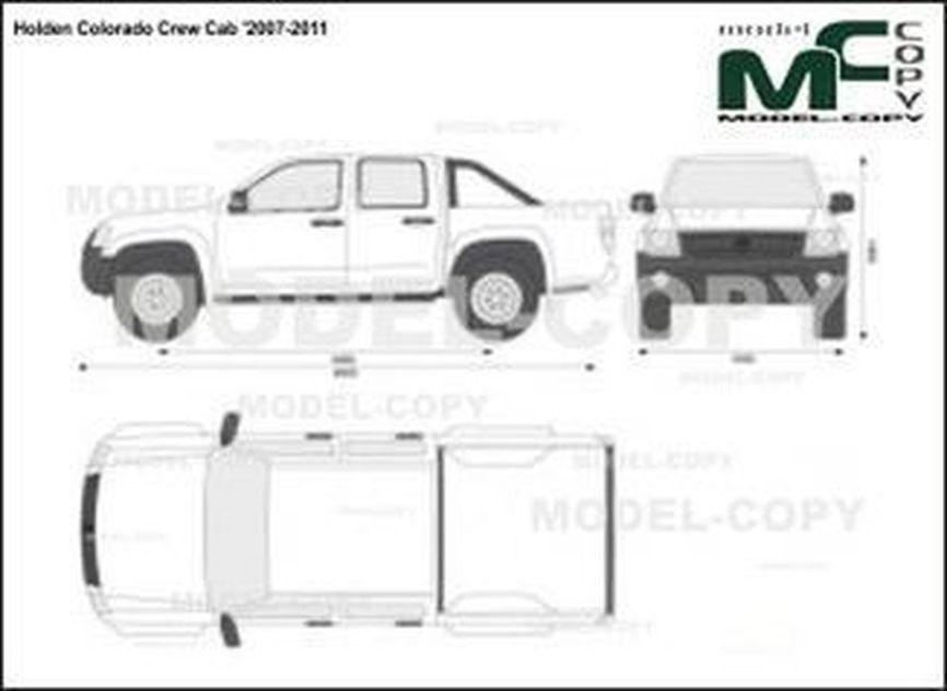 Holden Colorado Crew Cab '2007-2011 - 2D drawing (blueprints)