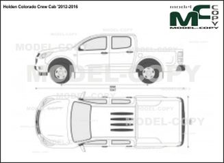Holden Colorado Crew Cab '2012-2016 - 2D drawing (blueprints)