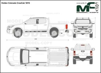 Holden Colorado CrewCab '2016 - 2D図面