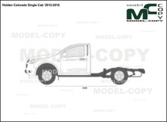 Holden Colorado Single Cab '2012-2016 - 2D図面
