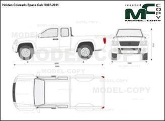 Holden Colorado Space Cab '2007-2011 - 2D drawing (blueprints)
