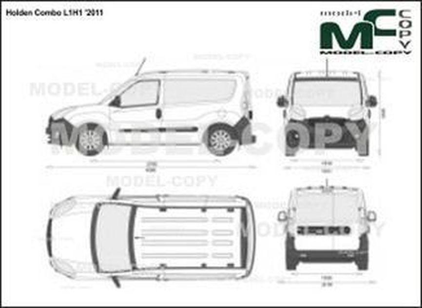 Holden Combo L1H1 '2011 - 2D図面