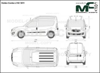Holden Combo L1H2 '2011 - 2D drawing (blueprints)