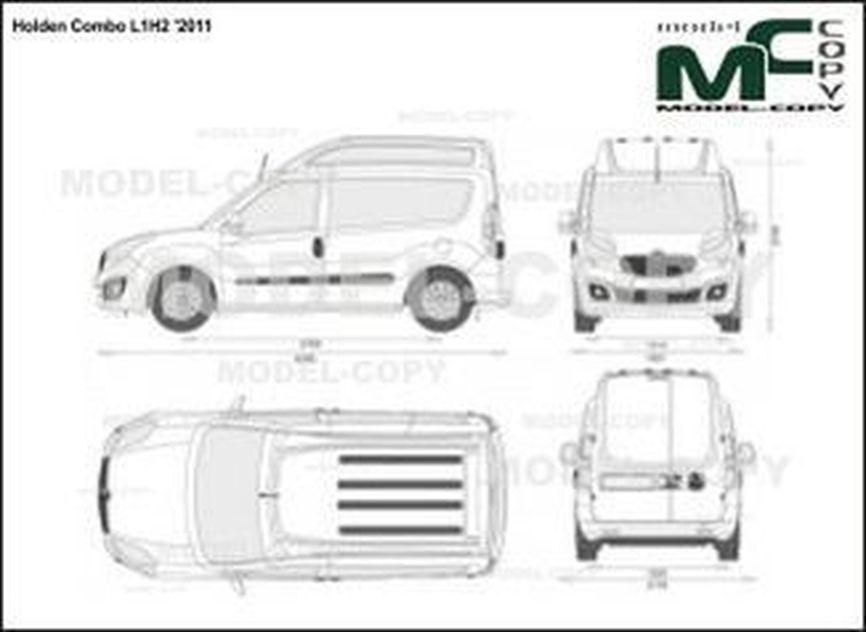 Holden Combo L1H2 '2011 - 2D図面