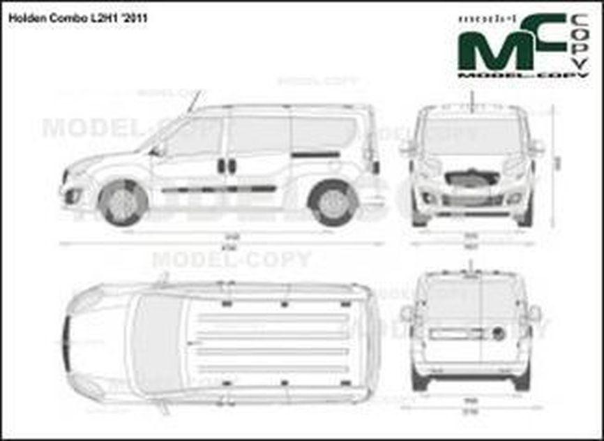 Holden Combo L2H1 '2011 - 2D図面